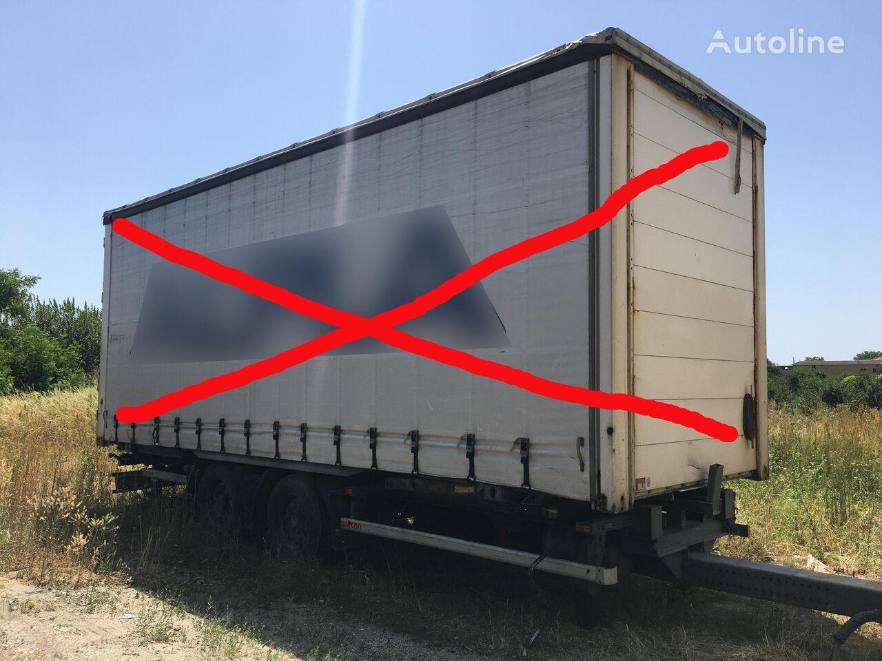 WECON AWZ 218 LN, BDF tandem  chassis trailer