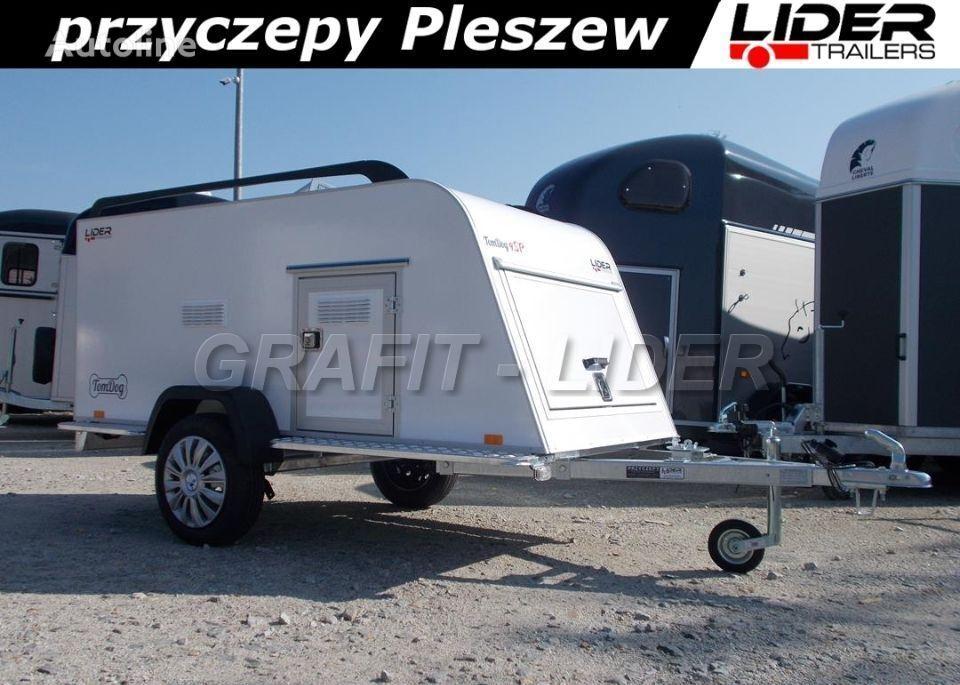 new TP-060 przyczepa 253x110x90cm, TomDog 4SP, do przewozu zwierząt, closed box trailer