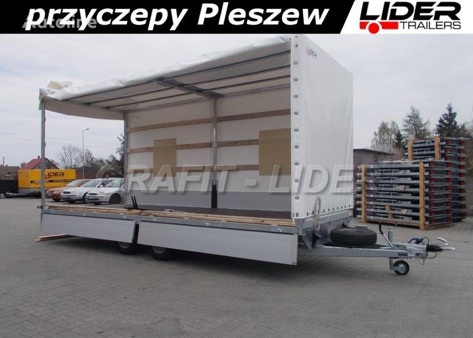 new LIDER LT-038 przyczepa + plandeka 620x220x260cm, spedycyjna przyczepa  closed box trailer