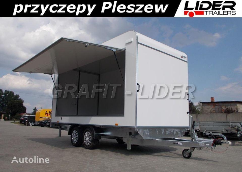 new LIDER trailers TP-059 przyczepa 420x200x210cm, kontener, furgon izolow closed box trailer