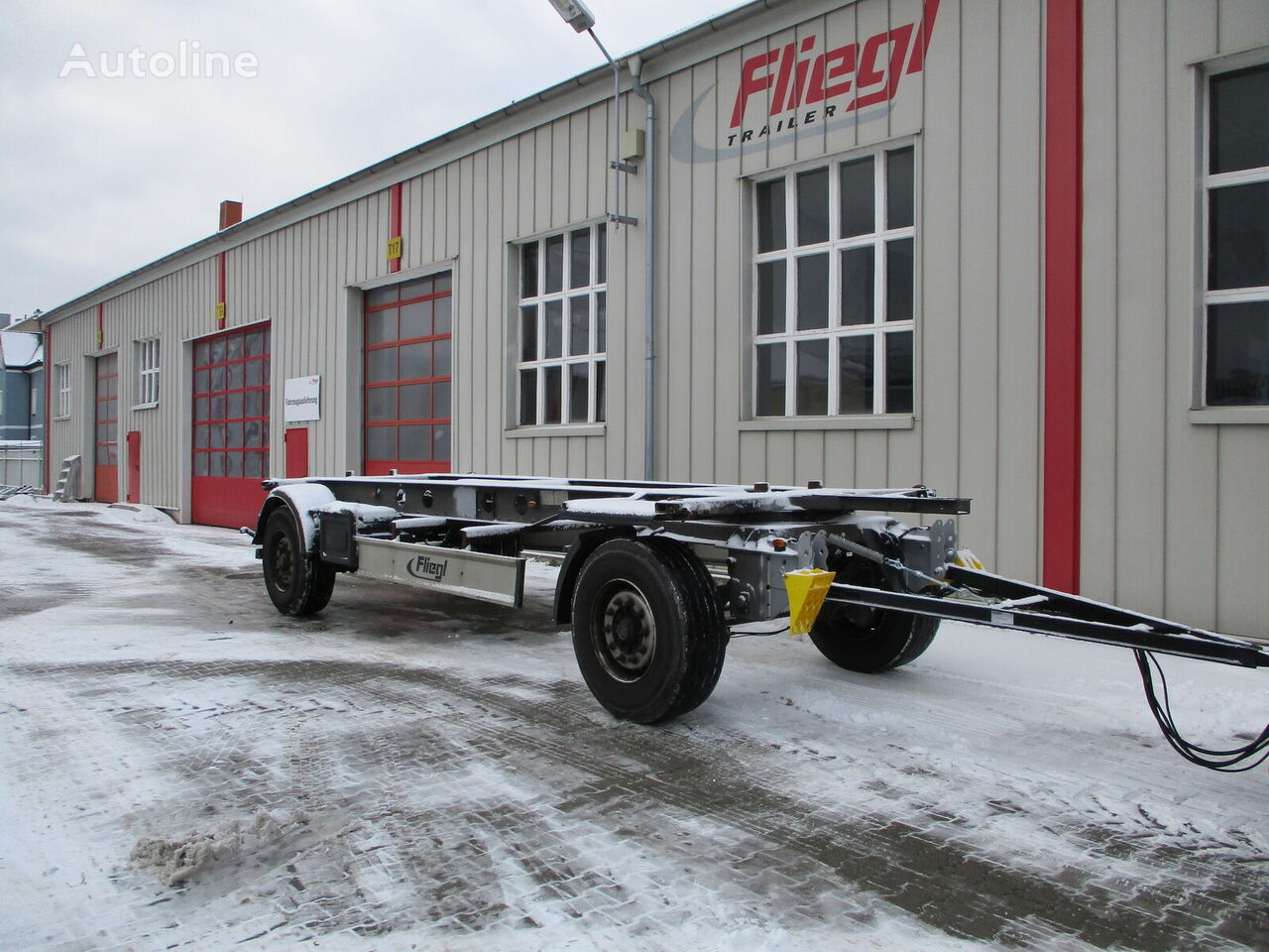 FLIEGL ZWP 180 Standard container chassis trailer