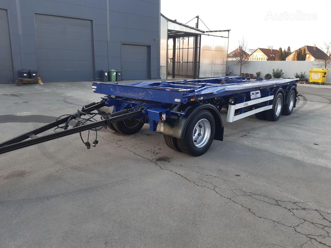 MEILLER G24 DUPLA KONTÉNERSZÁLLÍTÓ 3 TENG. 19 TO HASZNOS KAMPÓS LÁNCOS container chassis trailer