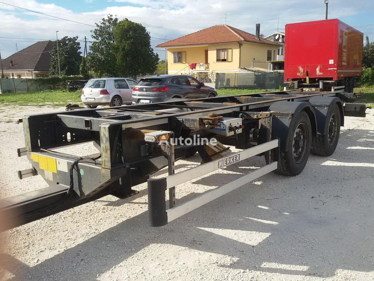MERKER Tipo: MC A CX container chassis trailer