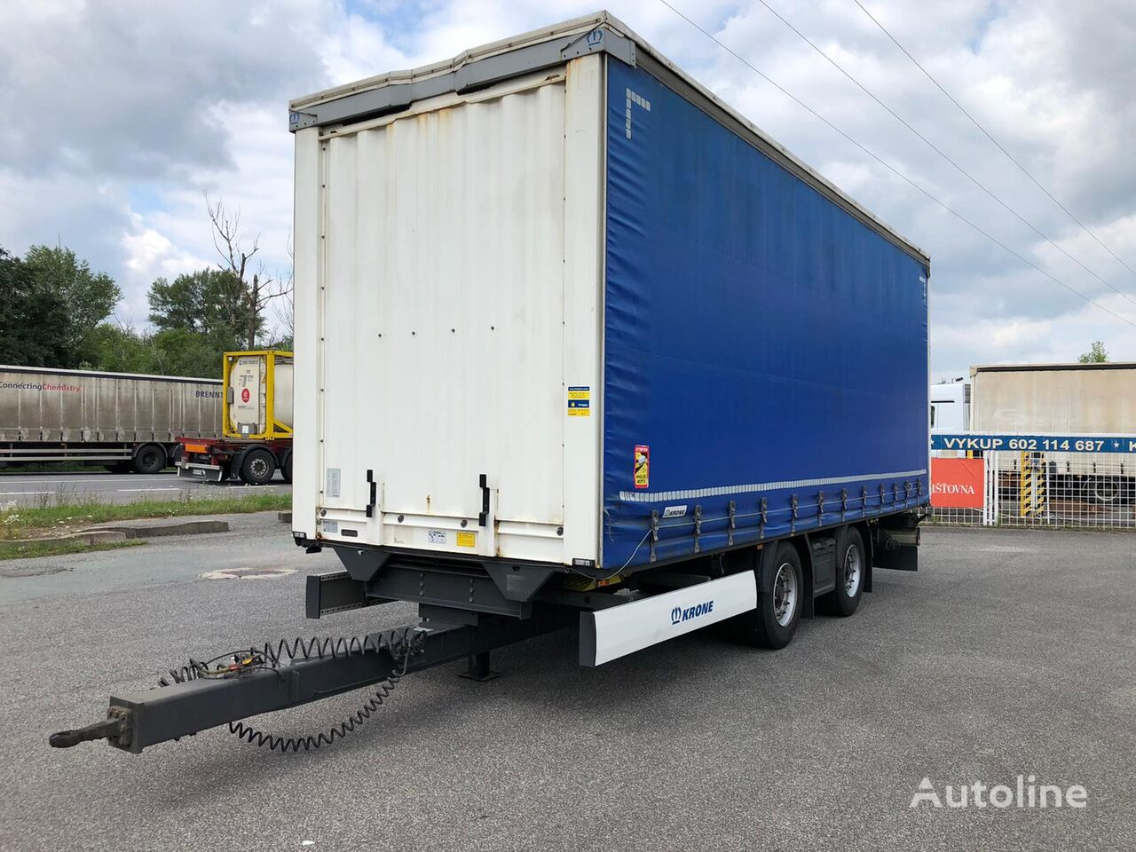 KRONE Load Carrier DC06CLNF curtain side trailer