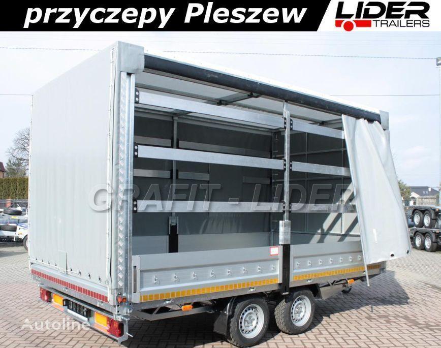 new LIDER LT-006 przyczepa ciężarowa LIDER Trailers, zabudowa firana, plan curtain side trailer