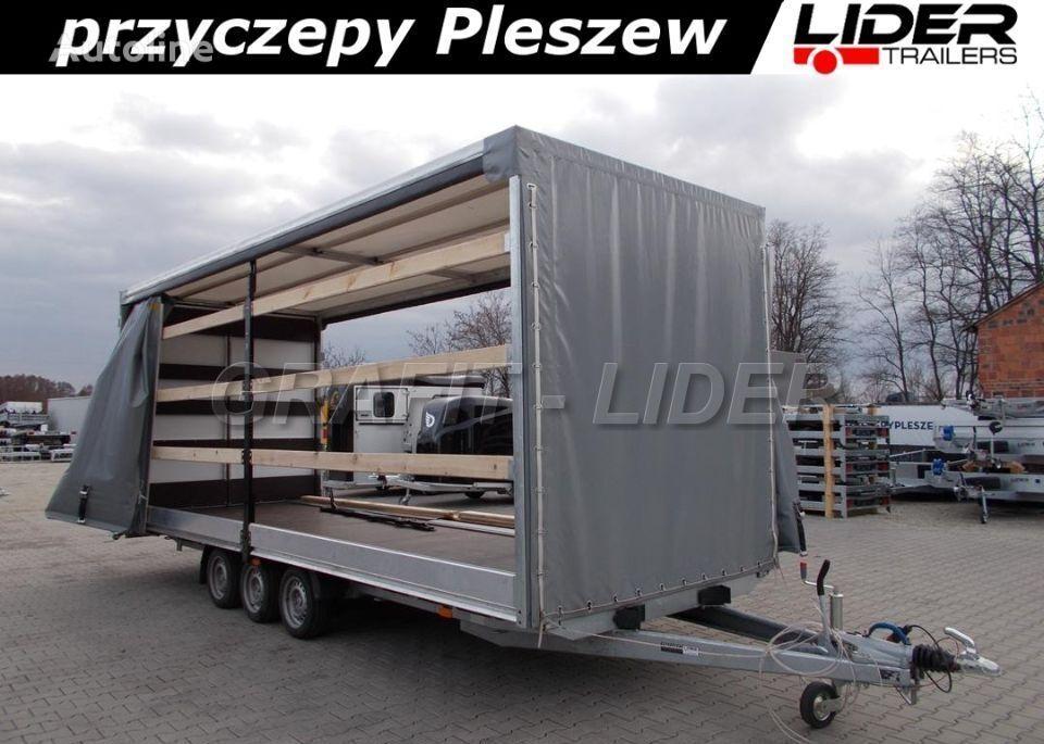 new LIDER LT-045 przyczepa 620x220x230cm, firana dwustronna, drzwi tylne 2 curtain side trailer