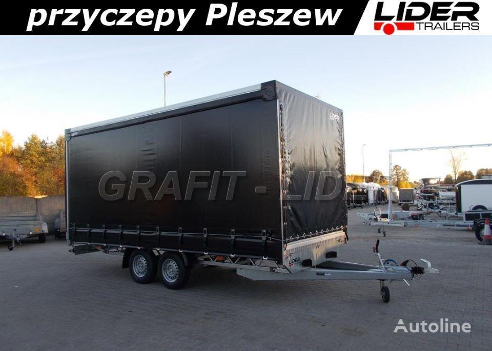 new LIDER lider-trailers LT-014 spedycyjna przyczepa ciężarowa , firana je curtain side trailer