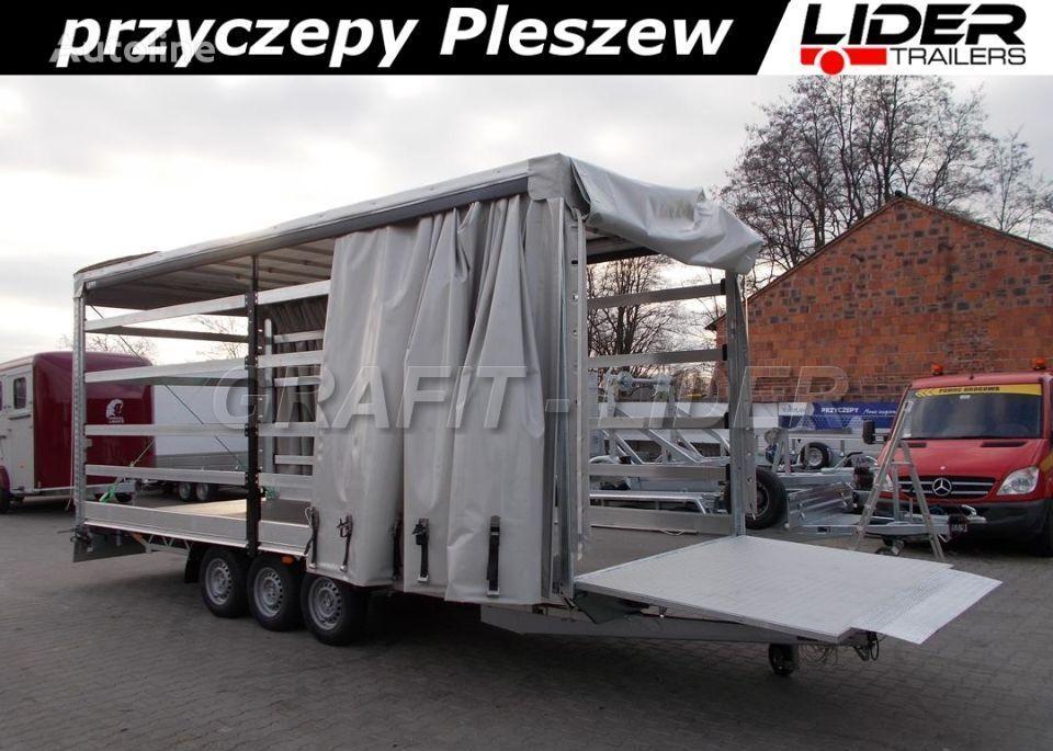 new LIDER lider-trailers LT-087 przyczepa 620x220x240cm, firana dwustronna curtain side trailer