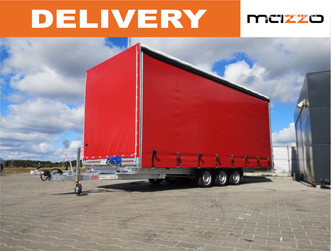 new Tarpaulin 610x220x260 Curtainsider + rear doors  curtain side trailer