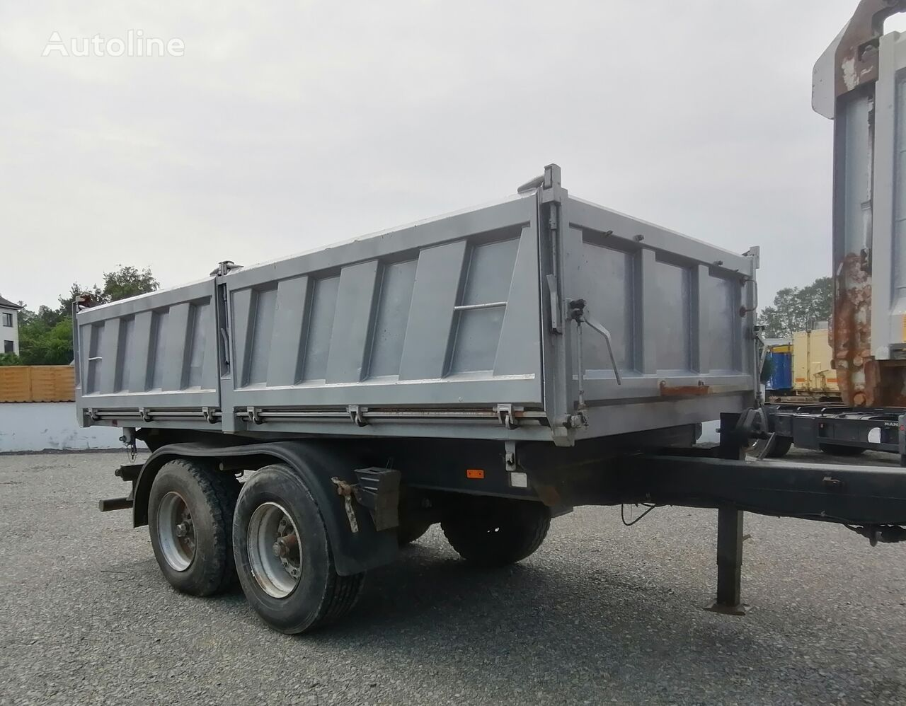 REISCH RTDK-18 Kippanhänger BPW Blattfederung dump trailer
