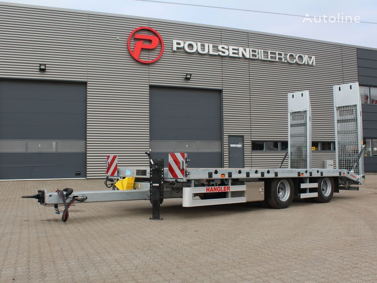 new HANGLER maskinkærre stålgitter ramper equipment trailer