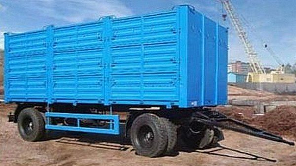 new KAMAZ SZAP-8357-02/030 flatbed trailer