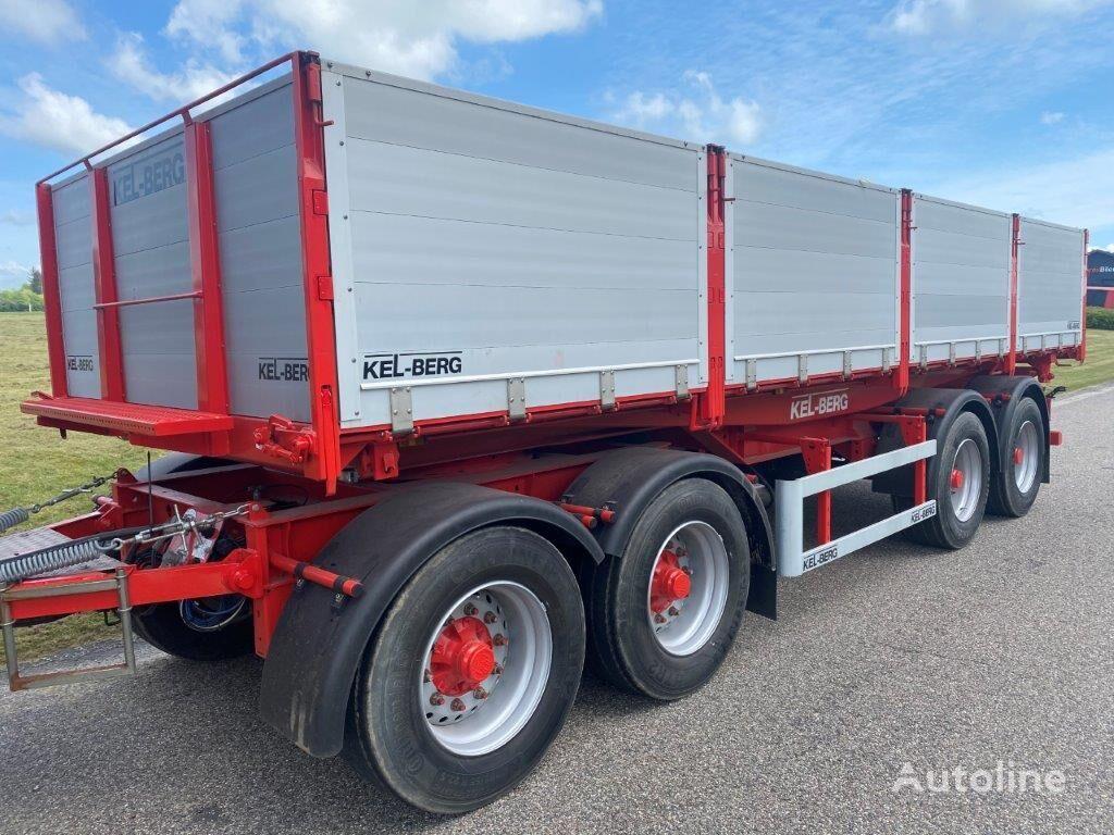 new KELBERG 3-vejs tip 7,60m flatbed trailer