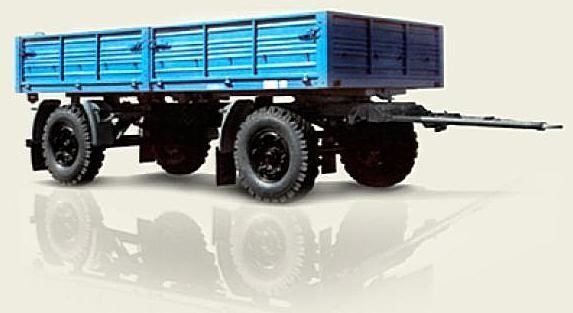 new MAZ 892600-017 flatbed trailer