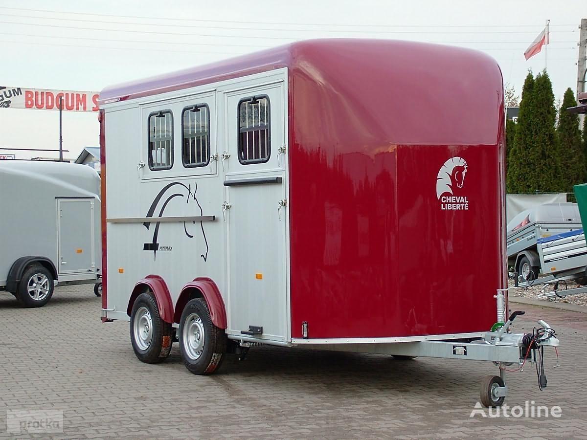new Cheval liberte Przyczepa do przewozu trzech koni Przyczepa Aluminiowa model Min horse trailer