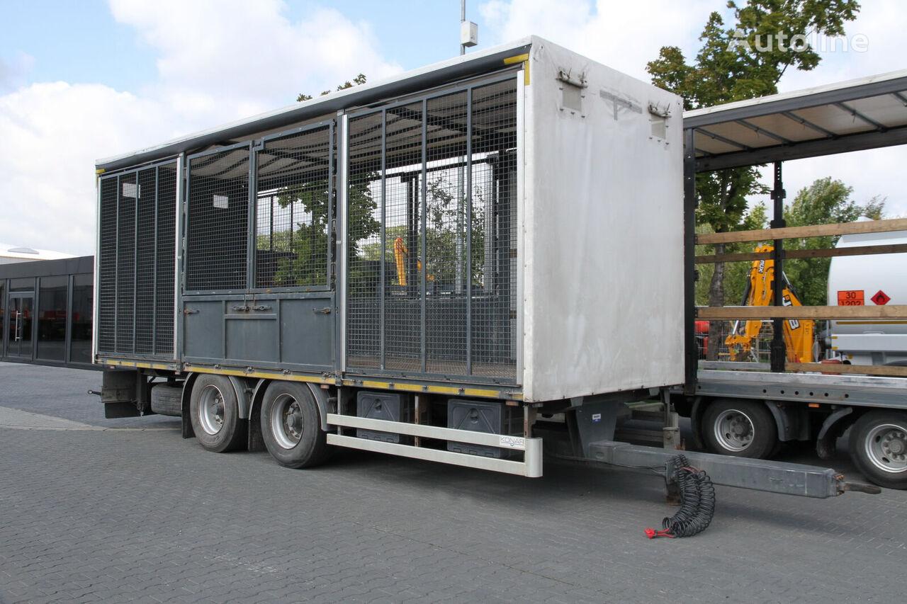 TRANSPORT OF ANIMALS/BIRDS/ HEN/18 T KONAR JG livestock trailer