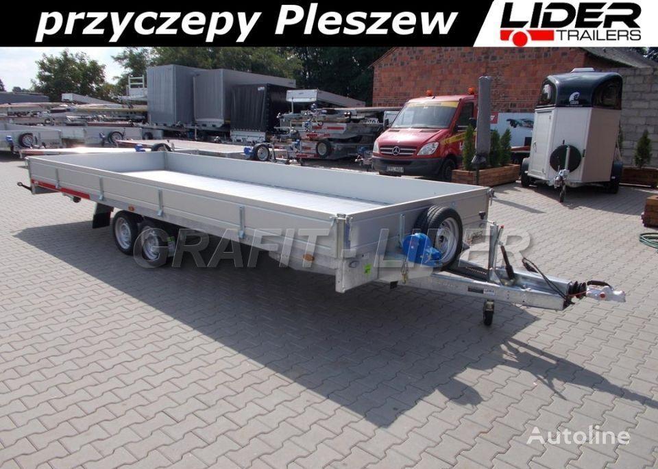 new TEMARED TM-172 przyczepa 588x211x30cm, Carplatform 6021S Alu, laweta, pl low loader trailer