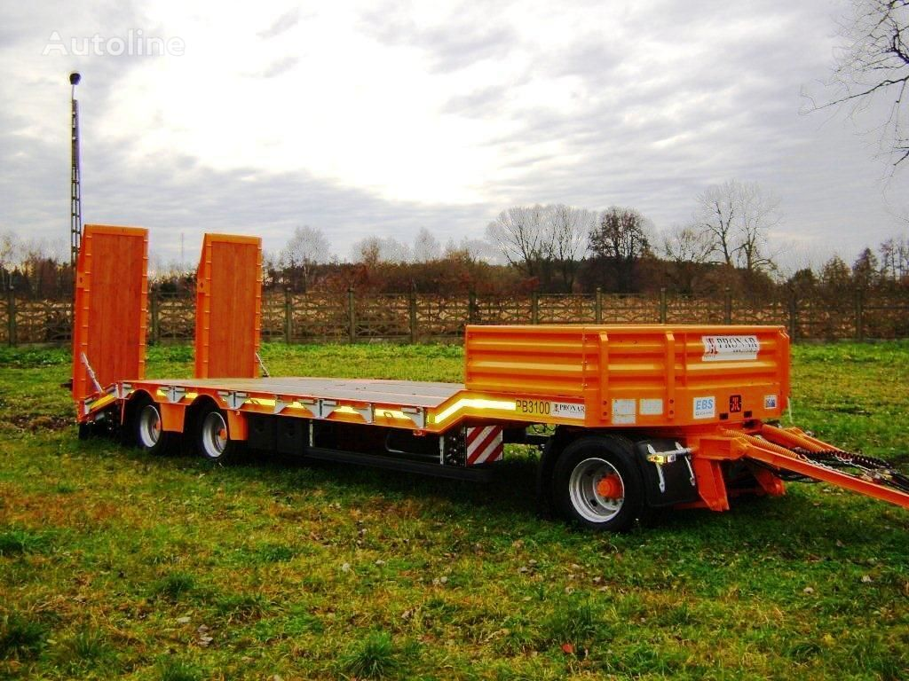 new PRONAR PB-3100 low loader trailer