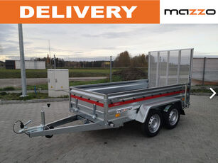 new Prakti 2612/2 two-axle trailer with ramp-gate low loader trailer