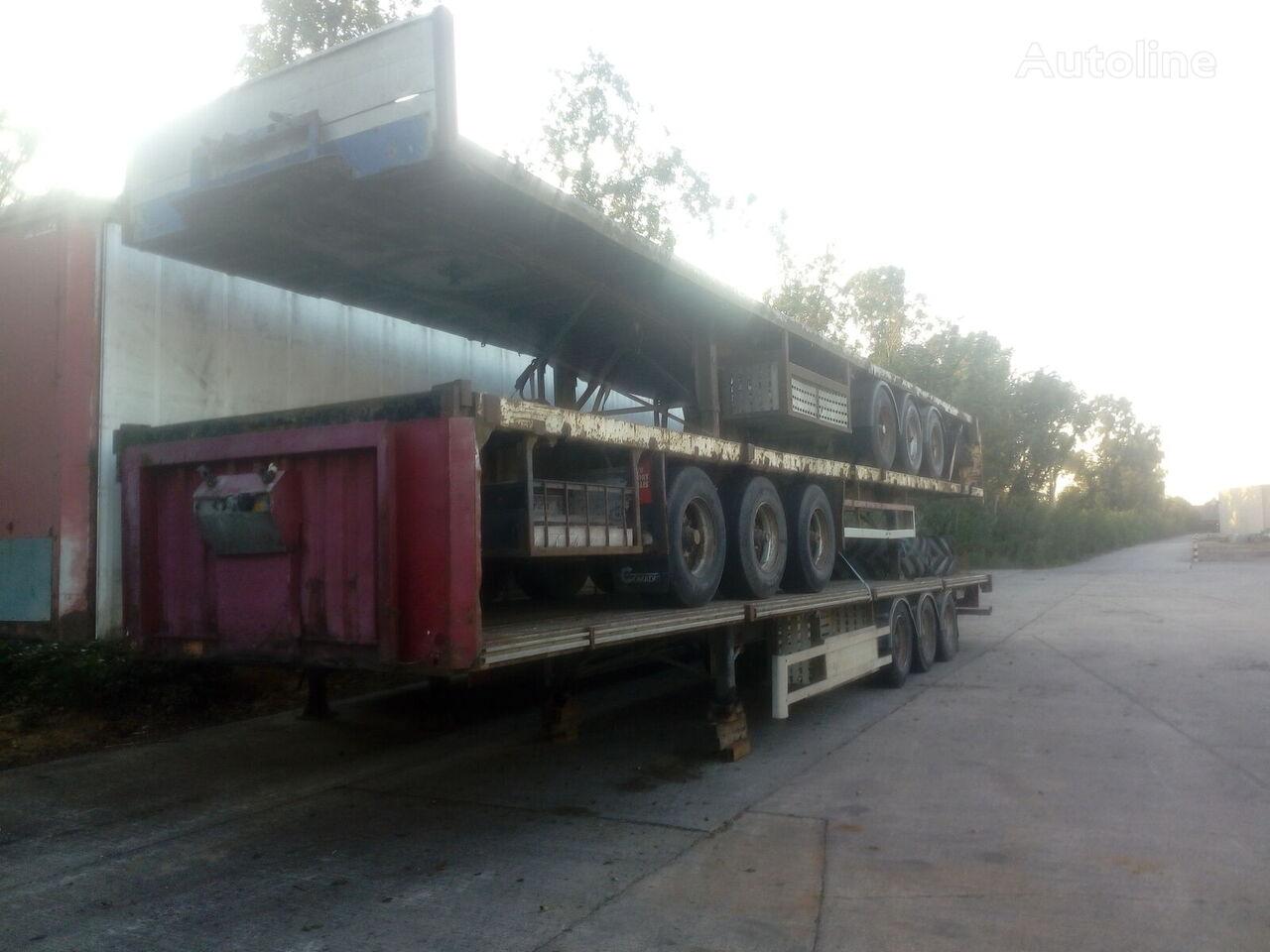 RENDERS Lot of 3 low loader trailer