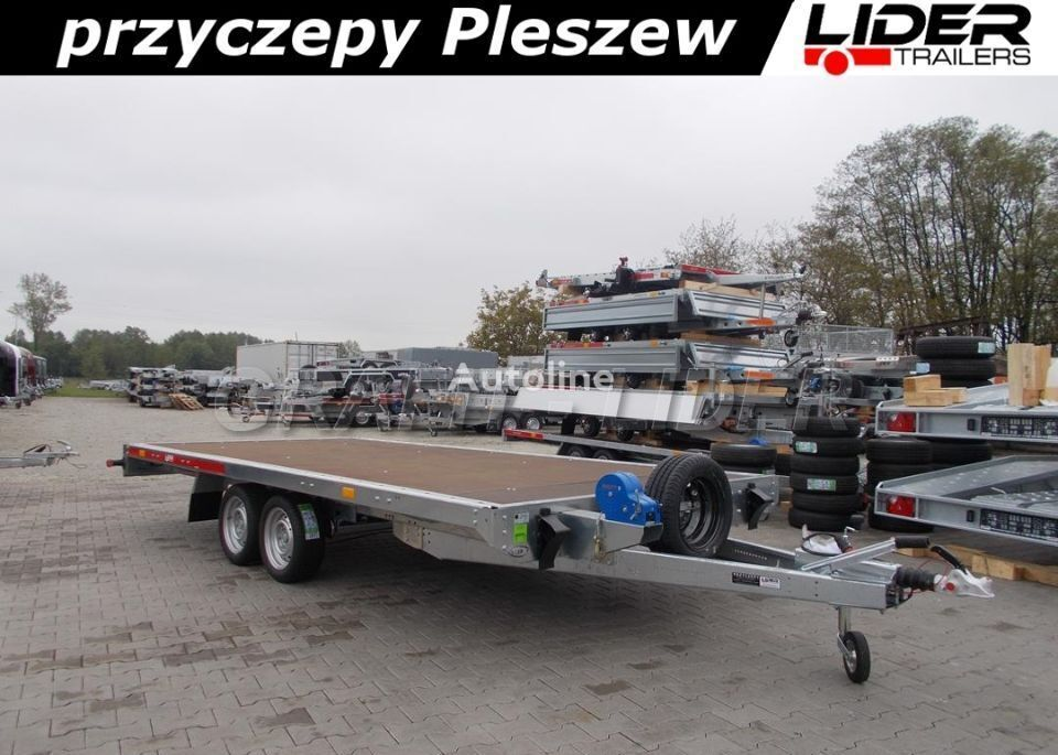 new temared TM-198 przyczepa 454x216cm, Carplatform 4521S laweta, pl low loader trailer