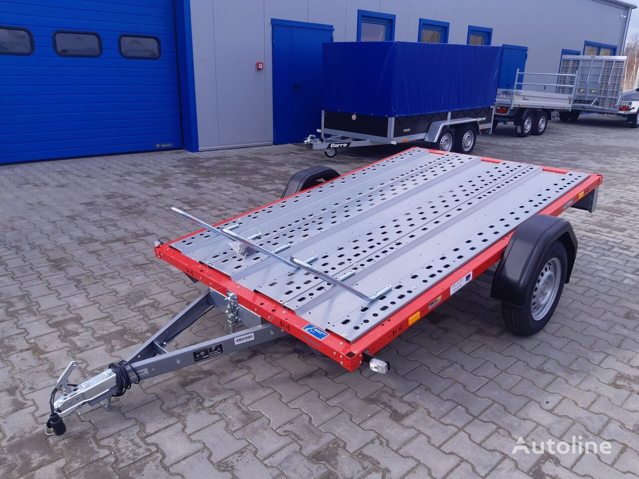 new STEMA STM 01 7.5-25-15.1 red 251x153 cm 3 motocykle motorcycle trailer