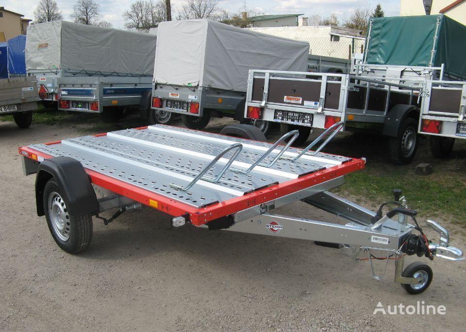 new stema Przyczepa 3 motocykle 257x259 cm Hamowana motorcycle trailer