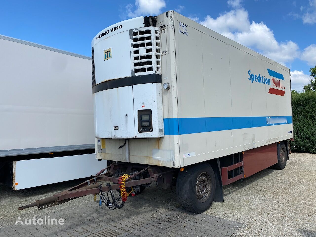 SCHMITZ CARGOBULL KO18 5740kg SAF Fleischhacken 5 Bahnen Thermo King refrigerated trailer