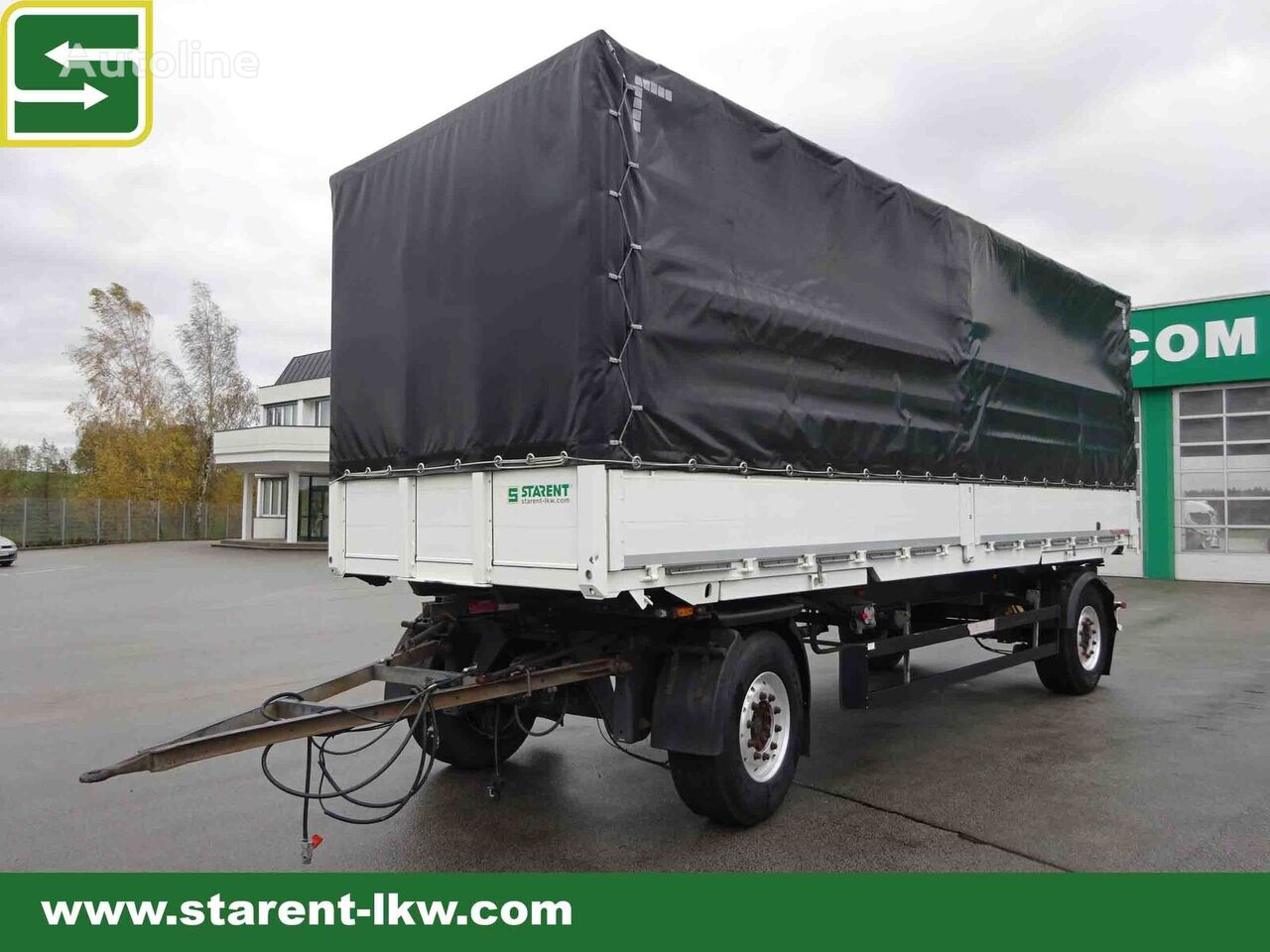 SCHWARZMÜLLER Lafette inkl. MS-Parts Wechselfahrgestell 7,45, Plane-Pritsche,  tilt trailer