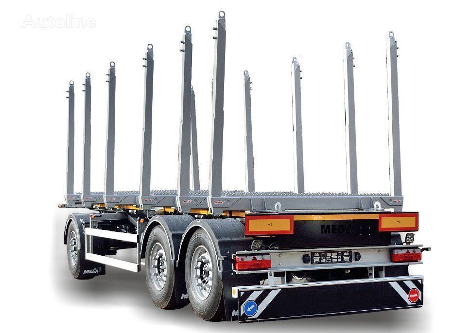 new MEGA Przyczepa LEŚNA do przewozu drewna timber trailer