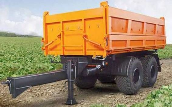 new KAMAZ SZAP-8582T tipper trailer