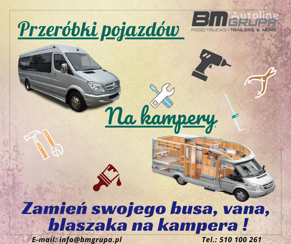new BMgrupa Przeróbki busów, vanów na kampery, Spezialumbauten - Umwandlung  vending trailer