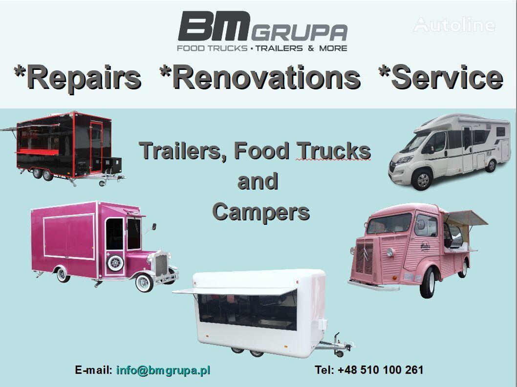 BODEX Service, Reparatur, Umbau, Renovierung, Serwis, naprawa, remont, vending trailer