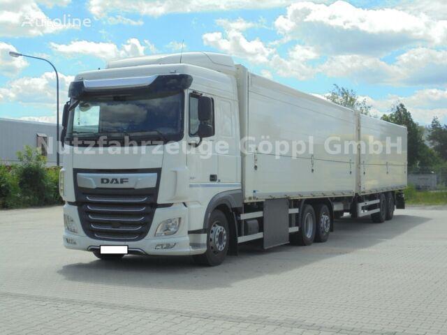 DAF XF480  box truck + closed box trailer