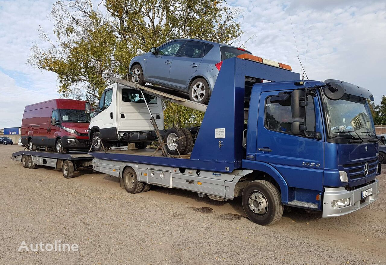 MERCEDES-BENZ ATEGO 1022, auto transporters car transporter + car transporter trailer