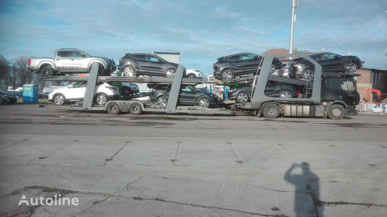 RENAULT Premium 430 car transporter + car transporter trailer