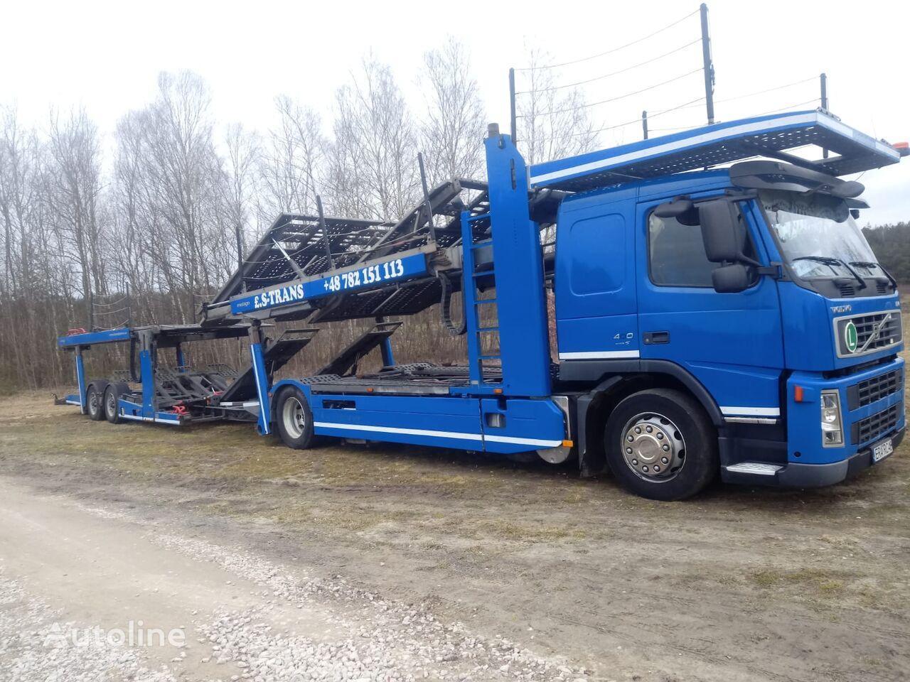 VOLVO FM 400 E5 + KASSBOHRER METAGO car transporter
