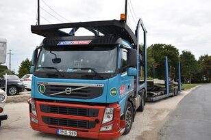 VOLVO FM 460 + LOHR 1.22 car transporter + car transporter trailer
