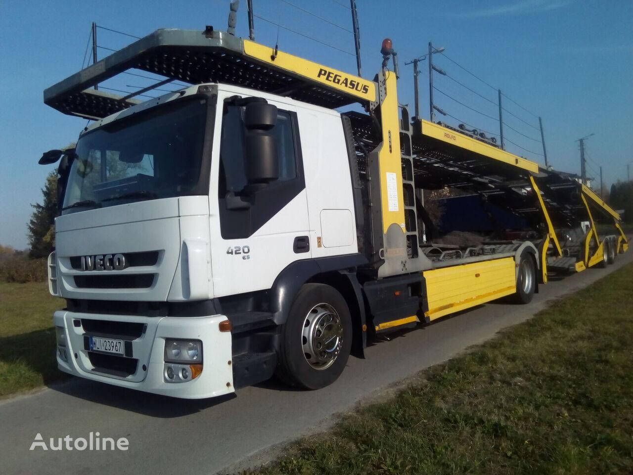 IVECO LORA  car transporter + car transporter trailer