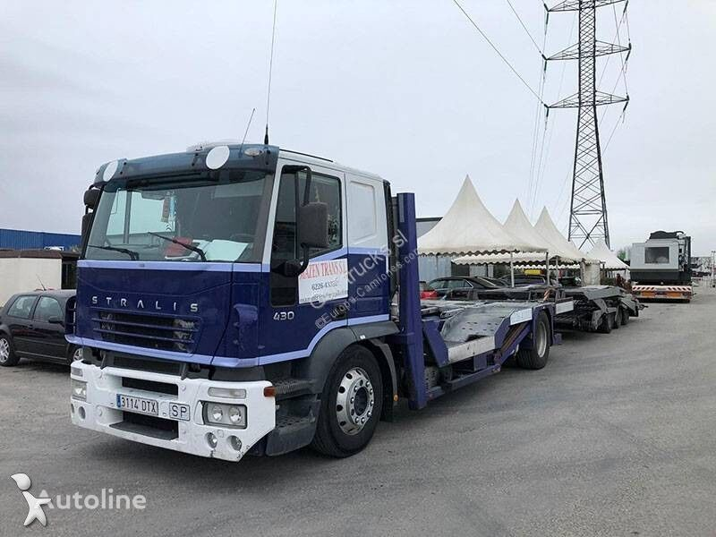 IVECO Stralis car transporter + car transporter trailer