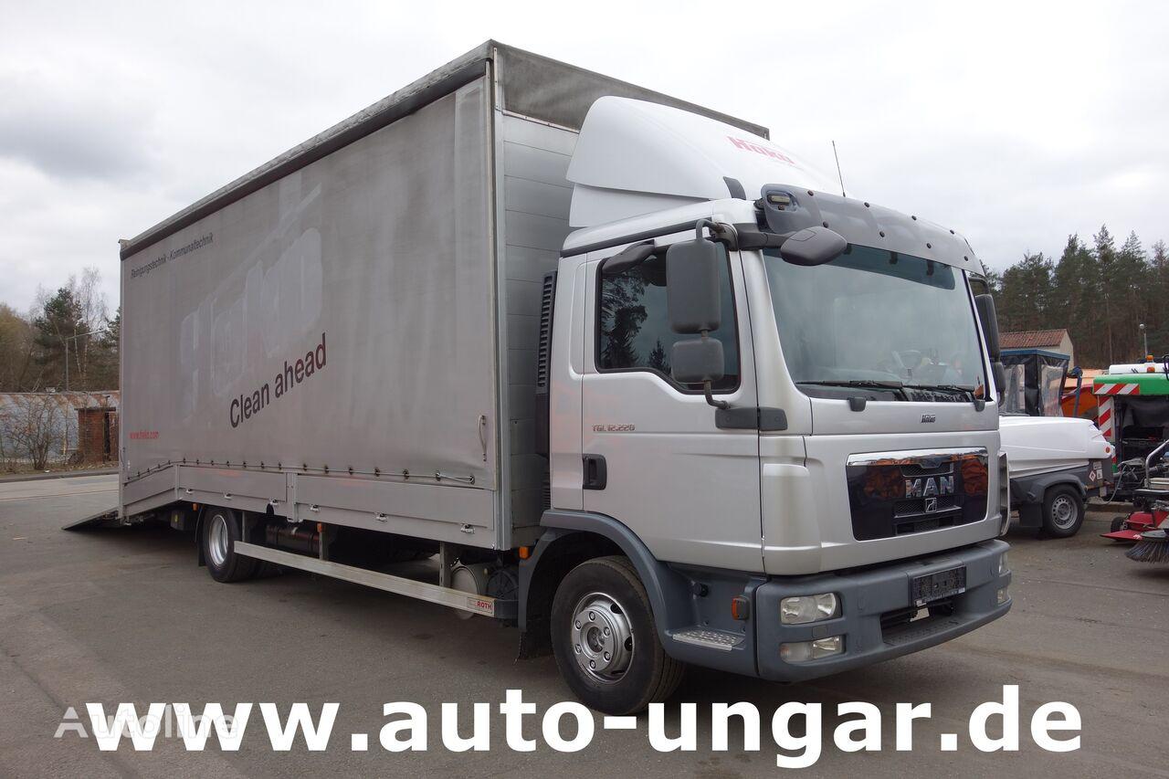 MAN 12.220 geschlossener Fahrzeugtransporter Maschinentransporter EU car transporter