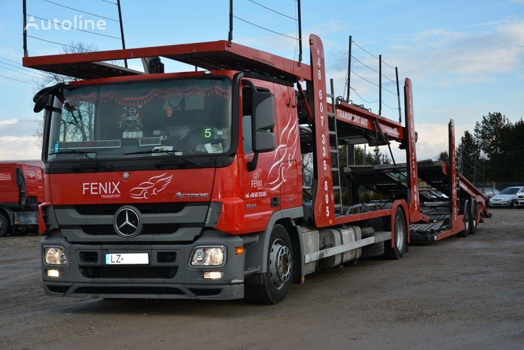MERCEDES-BENZ ACTROIS 1844 car transporter + car transporter trailer