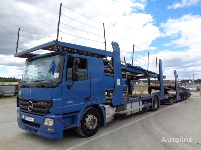MERCEDES-BENZ ACTROS 1841 car transporter + car transporter trailer
