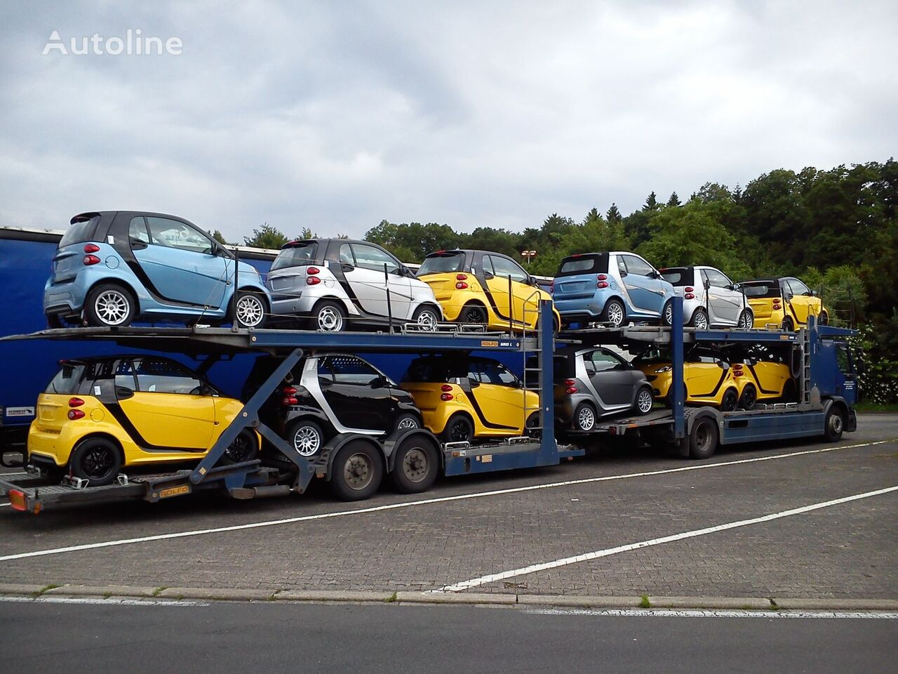 RENAULT premium 410.18 car transporter + car transporter trailer