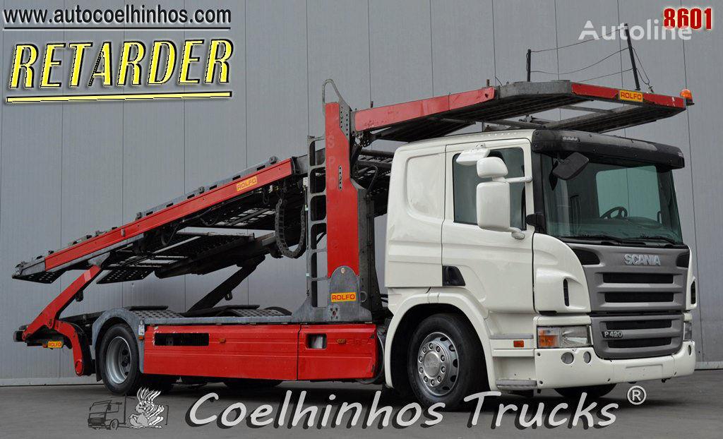 SCANIA P 420 car transporter