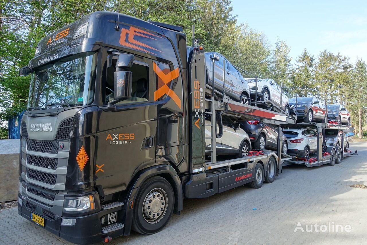 SCANIA S500 6x2 KTT MetagoPro car transporter + car transporter trailer