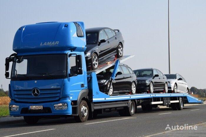 new ZABUDOWA AUTOLAWETA PIĘTROWA Z PRZYCZEPĄ Tow Truck + Trailer car transporter + car transporter trailer