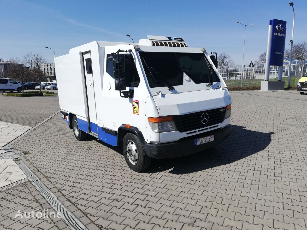 MERCEDES-BENZ 816D,Bankowóz,Prawdziwy Pancernik,E5,Klasa BS4+,Jedyne Prawdziwe cash in transit truck