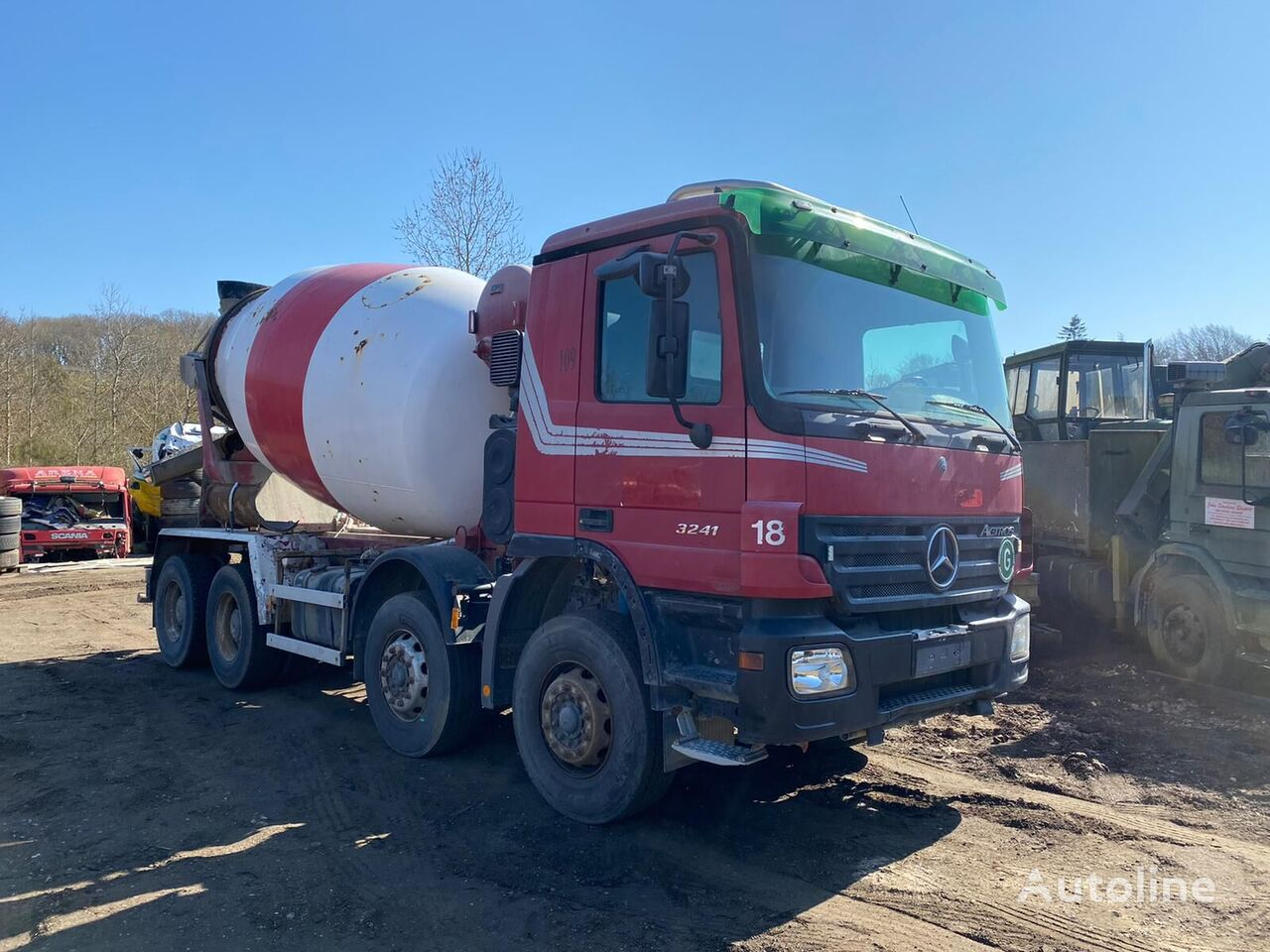 MERCEDES-BENZ Actros 3241 8x4 manual gearbox, full steel, 9 m3 cement tank truck