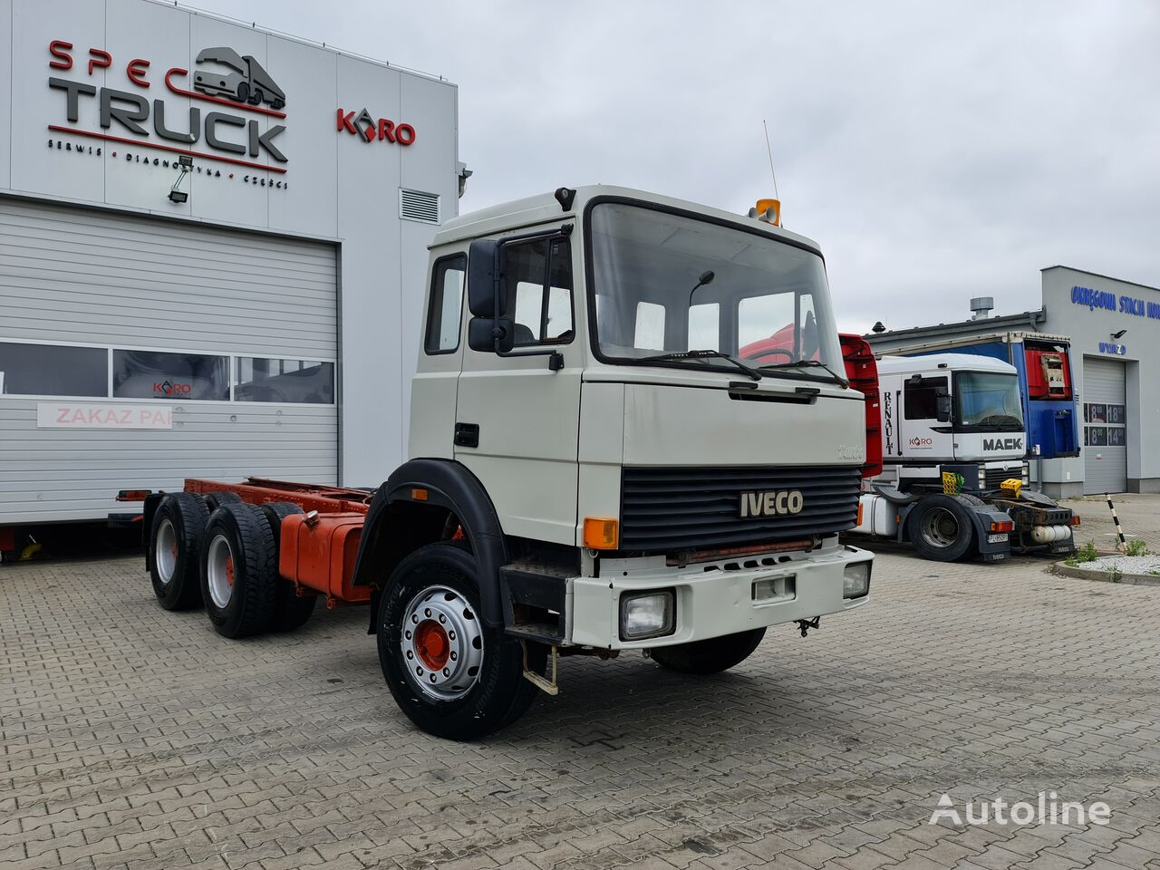 IVECO Turbostar 260-34, full Steel 6x6 ,V8 Engine chassis truck